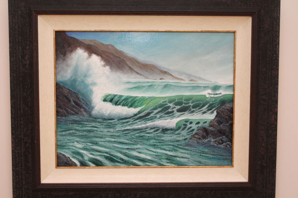 Phil Philips breaking waves painting