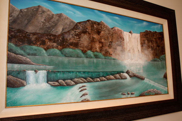 Phil Philips waterfall painting