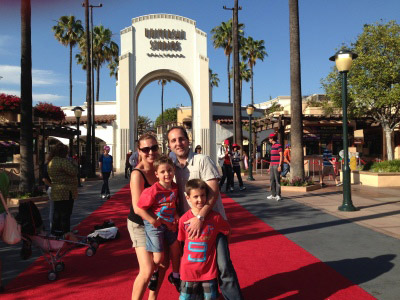 Phil Philips with family at Universal Studios