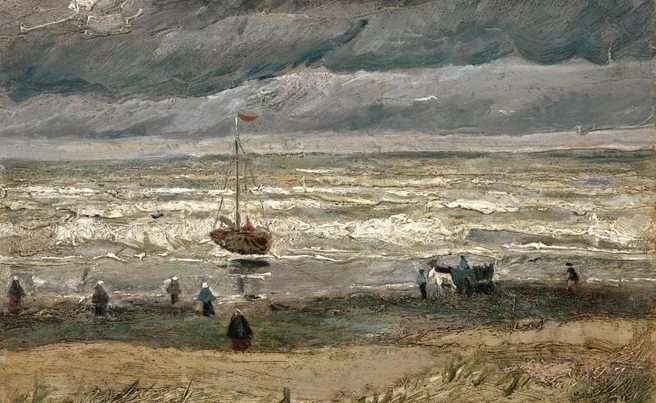 View of the Sea at Scheveningen, one of two stolen Van Gogh paintings recovered.