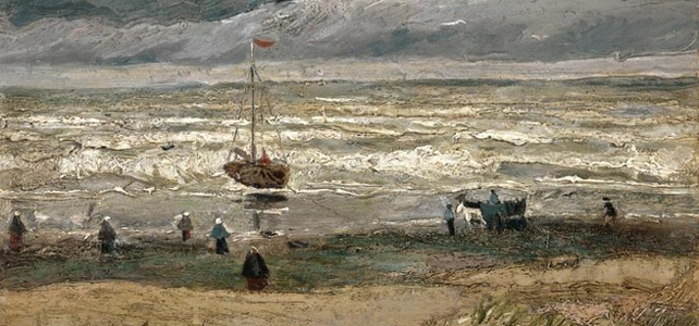 View of the Sea at Scheveningen Van Gogh Painting