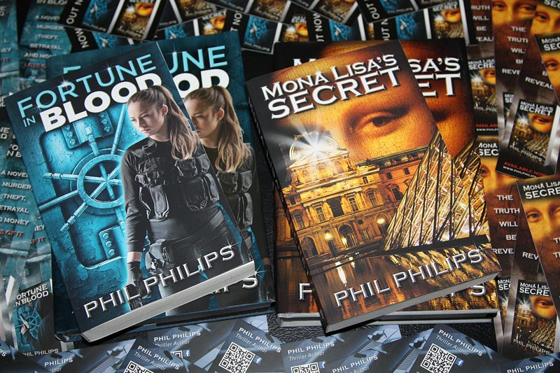 Phil Philips Novels Fortune in Blood and Mona Lisa's Secret