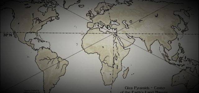 The Great Pyramid of Giza and its mystery why it was built at the exact center of our planet
