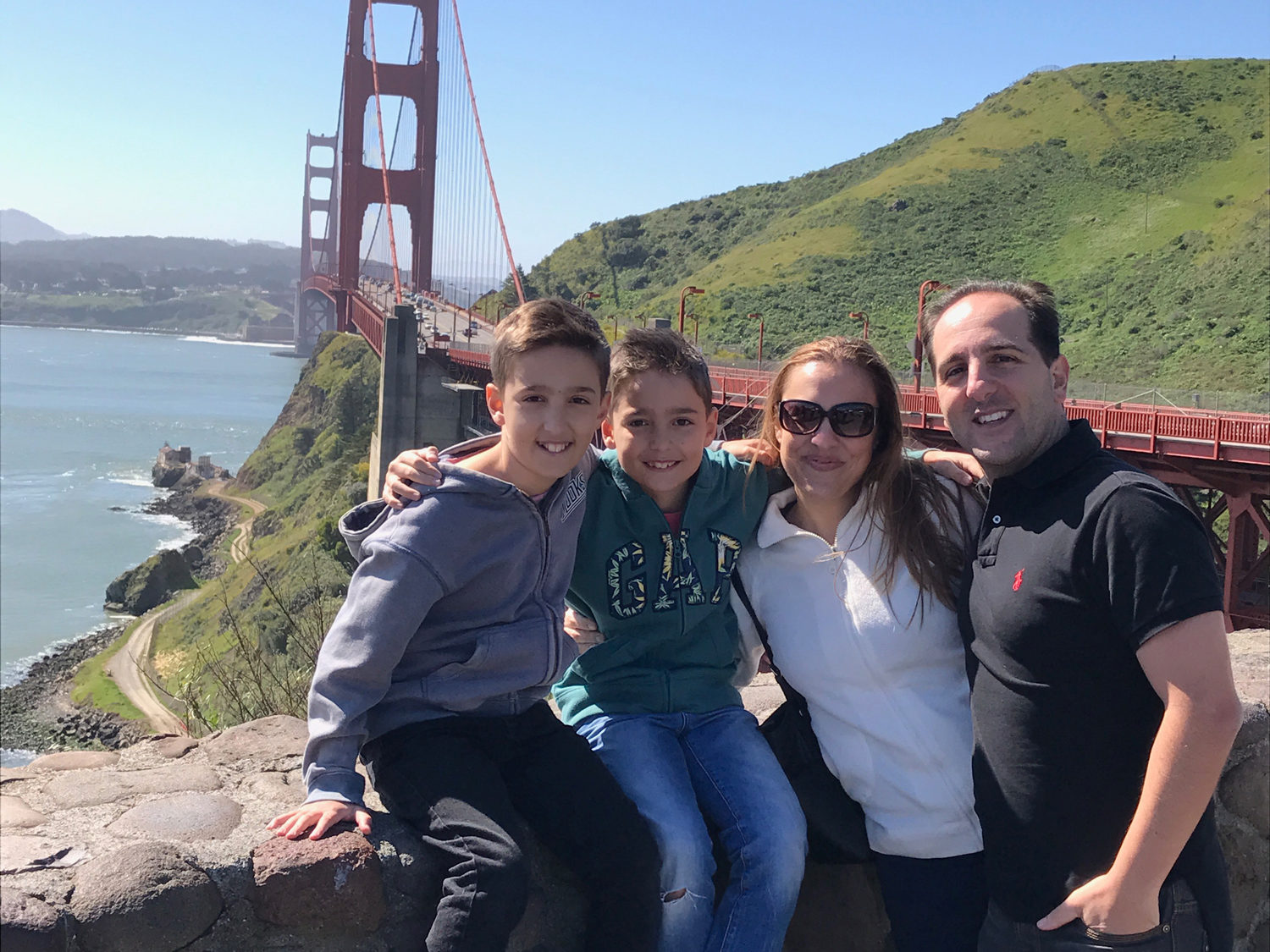 Phil Philip with family in San Franscisco